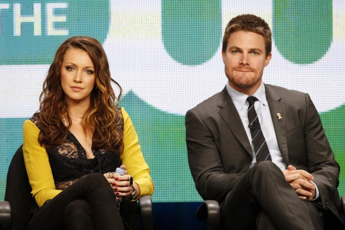 Stephen Amell and Katie Cassidy