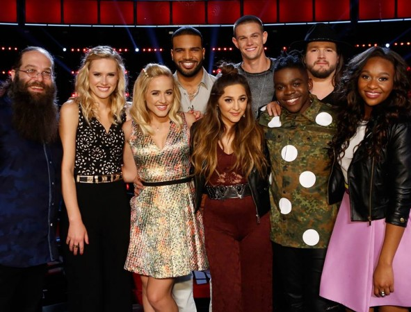 Top 9 contestants 'The Voice US' Season 10
