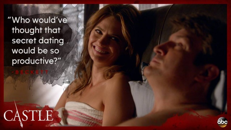 """Kate and Rick from """"Castle"""""""