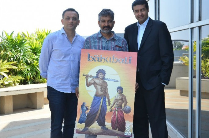 Shobu Yarlagadda and SS Rajamouli at Bahubali comics launch