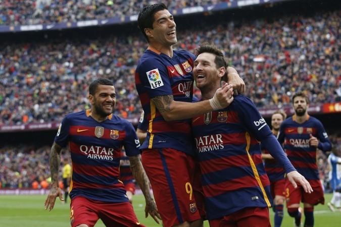 Alves Suarez Messi Barcelona