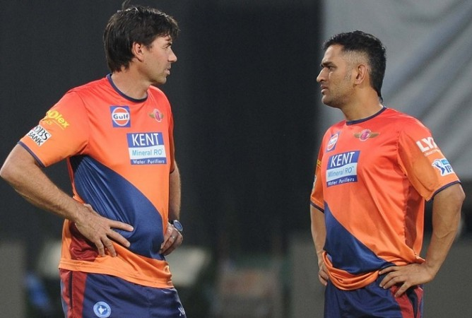 Stephen Fleming MS Dhoni RPS