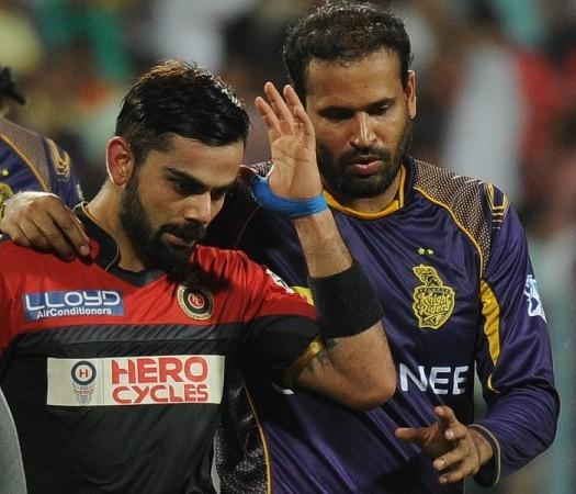 Kohli injury RCB Yusuf Pathan KKR