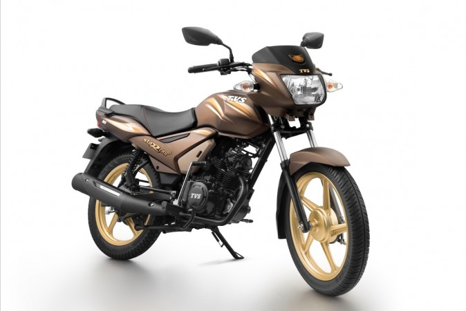 TVS Star City  chocolate gold edition