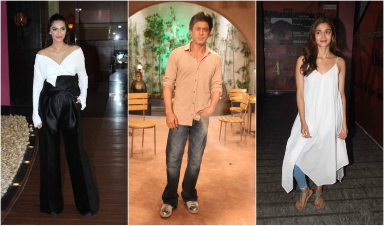 Sonam Kapoor, Shah Rukh Khan, Alia Bhatt