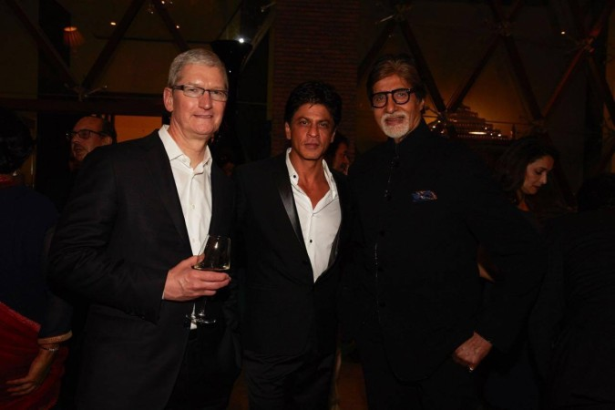 Tim Cook, Shah Rukh Khan and Amitabh Bachchan