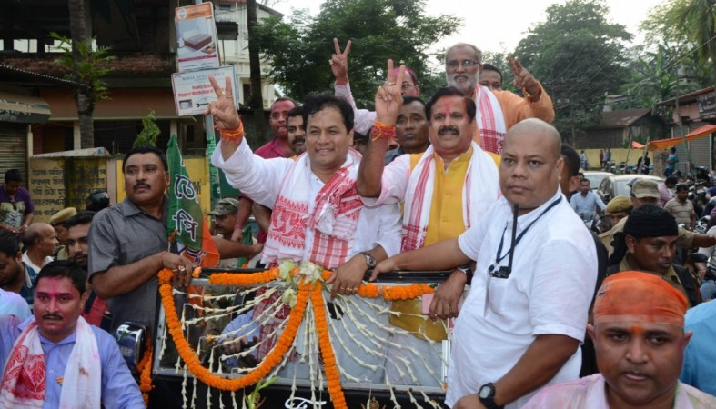 Assam assembly polls elections 2016 muslim votes sarbananda sonowal bjp victory celebrations roadshow
