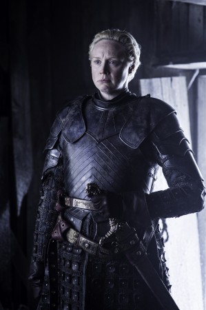 Brienne of Tarth is at the North Wall with Sansa Stark
