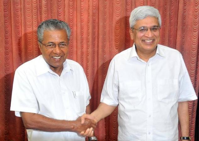 Pinarayi Vijayan with Sitaram Yechury