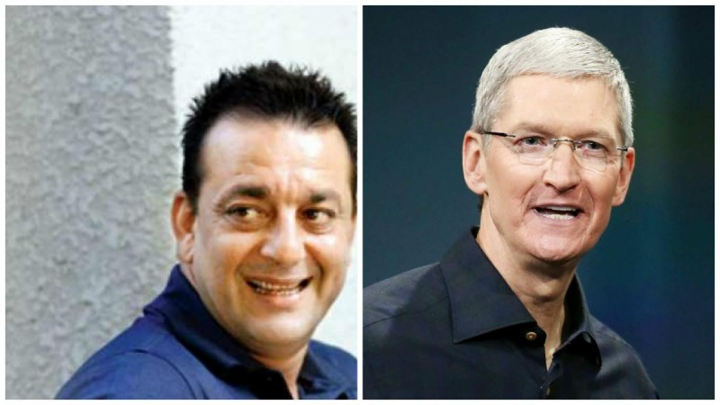 Sanjay Dutt and Tim Cook