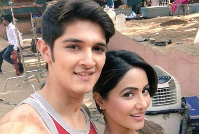 "Naira not happy reuniting with Akshara and family on ""Yeh Rishta Kya Kehlata Hai""? Pictured: ""Yeh Rishta Kya Kehlata Hai"" cast Hina Khan and Rohan Mehra"