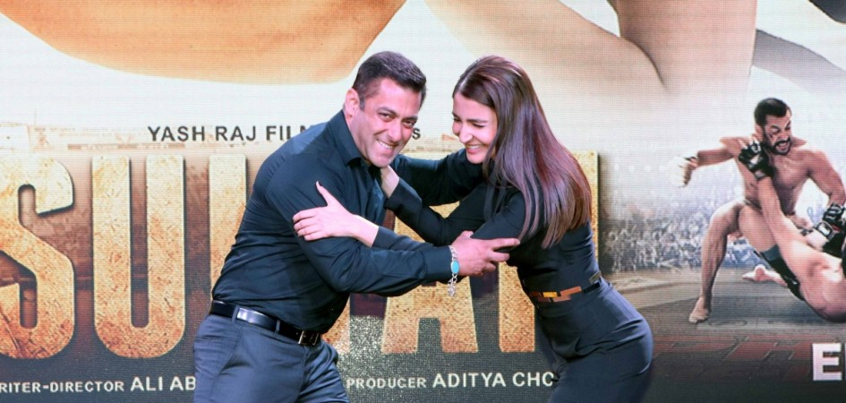 "Salman Khan and Anushka Sharma at ""Sultan"" trailer launch"