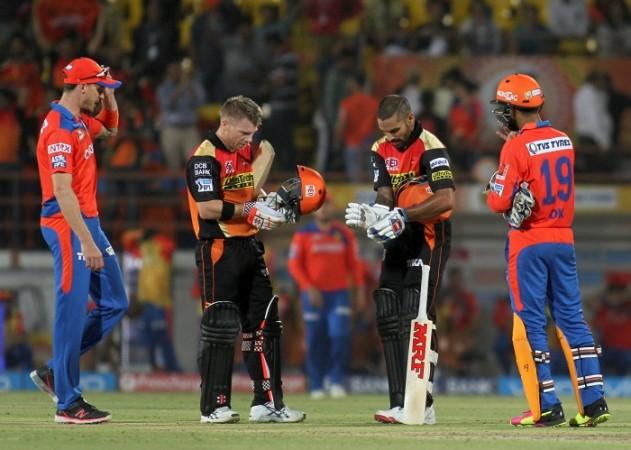 Gujarat Lions Sunrisers Hyderabad Warner Dhawan Steyn Karthik