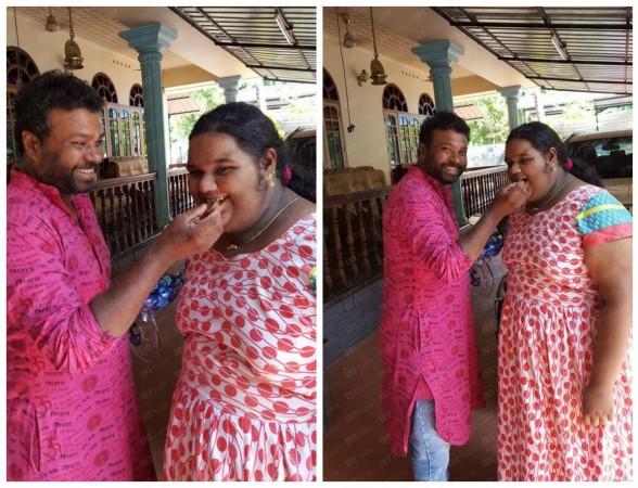 RLV Ramakrishnan with Sreelakshmy