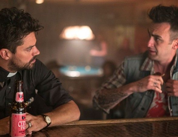 "Jesse Custer and Cassidy form ""Preacher"""