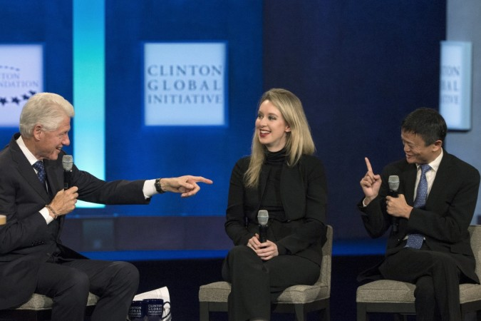 Elizabeth Holmes, CEO of Theranos Alibaba Group Jack Ma net worth forbes