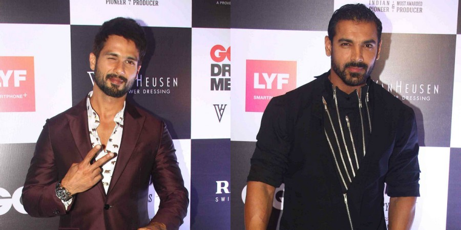 Shahid Kapoor, John Abraham at GQ Best Dressed Men 2016
