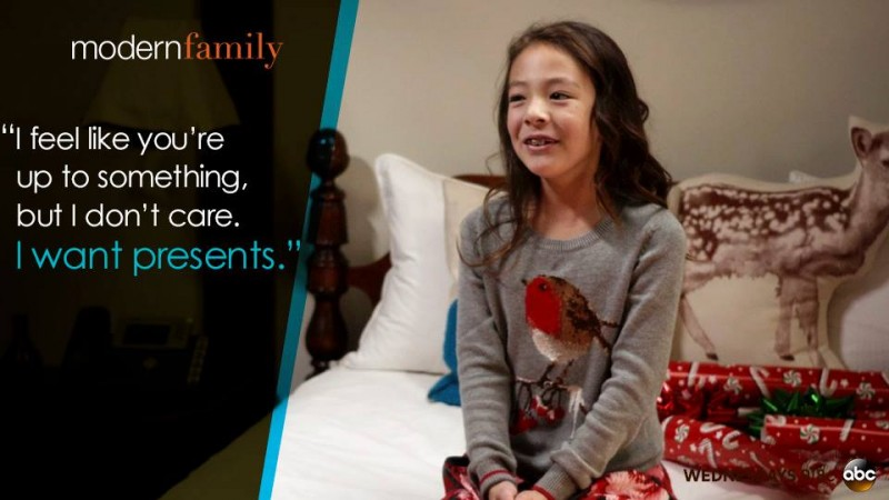 "Aubrey Anderson-Emmons as Lily in ""Modern Family"""