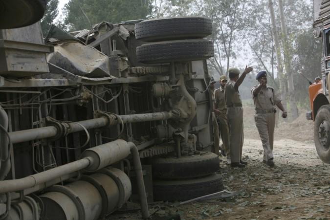 Bus explosion Haryana