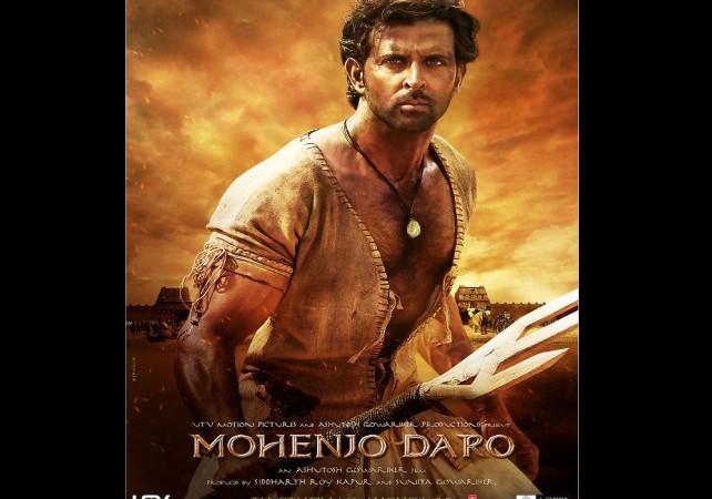 """Hrithik Roshan in """"Mohenjo Daro"""" poster"""
