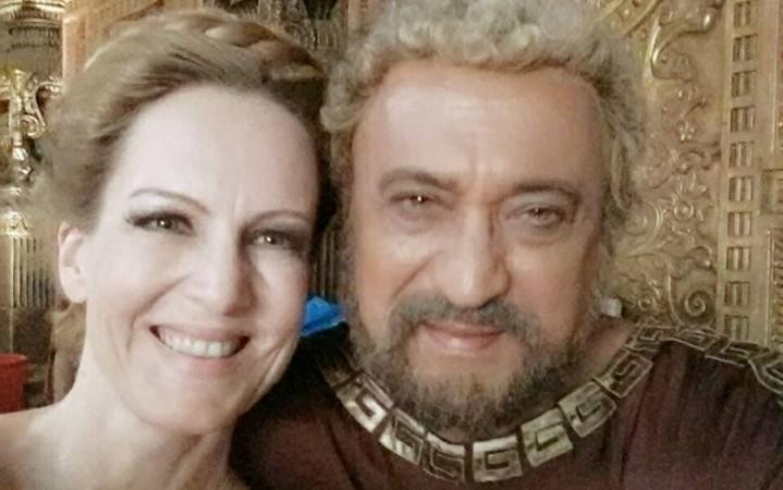 """Suzanne Bernert of """"Chakravartin Ashoka Samrat"""" fame to enter """"Yeh Rishta Kya Kehlata Hai."""" Pictured: """"Chakravartin Ashoka Samrat"""" actors Suzanne Bernert with Tej Sapru aka Nicator"""