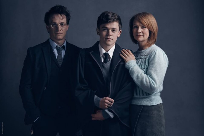 Harry Potter and his family in the play
