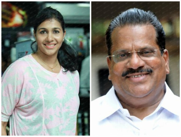 Olympian Anju Bobby George against Kerala sports minister EP Jayarajan