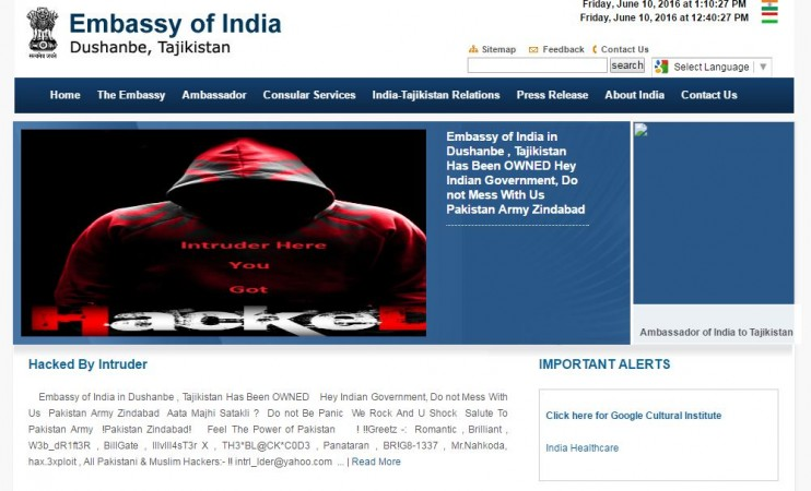 Indian Embassy websites hacked