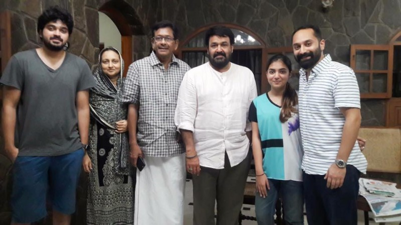 Mohanlal visits Fazil and family
