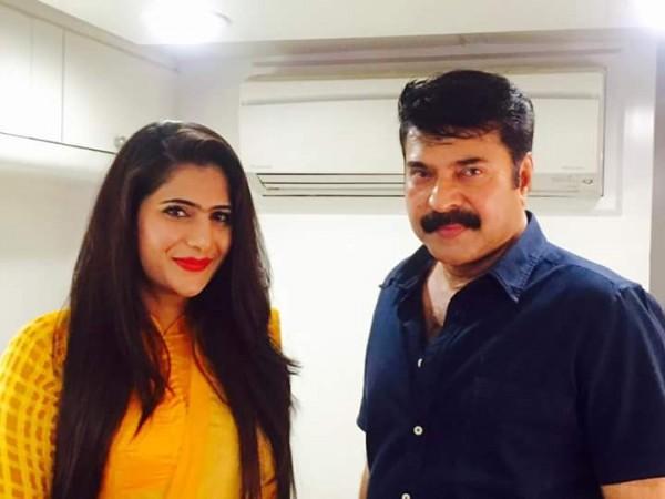 Neha Saxena with Mammootty
