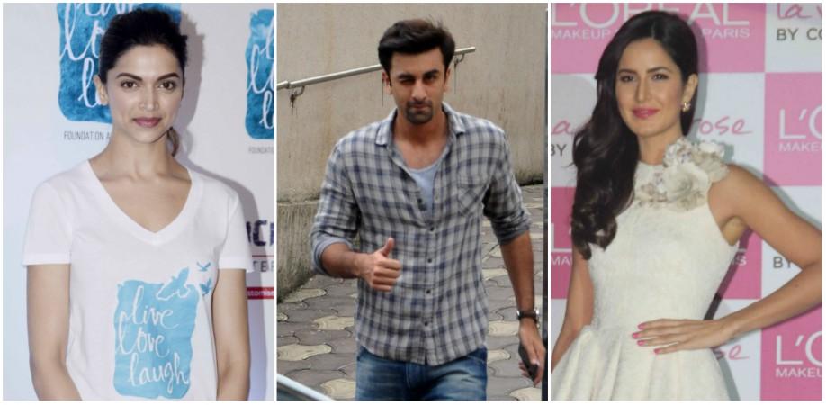 Deepika Padukone, Ranbir Kapoor, Katrina Kaif