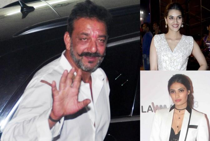 Sanjay Dutt, Kriti Sanon, Athiya Shetty