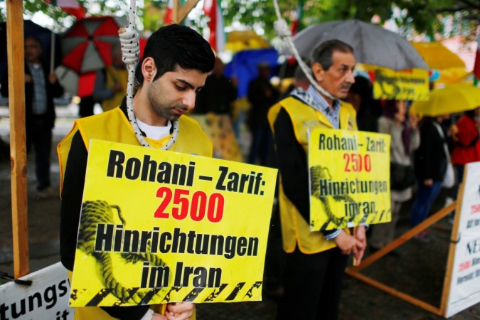 Protest over Iran executions