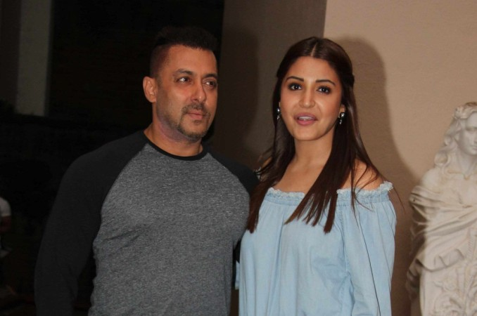 "Pictured: Salman Khan, Anushka Sharma promoting ""Sultan."""