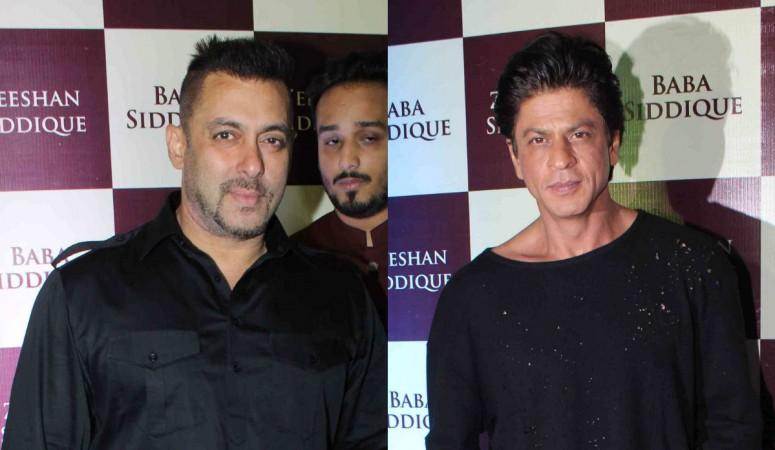 Salman Khan and Shah Rukh Khan at Baba Siddique's Iftar party