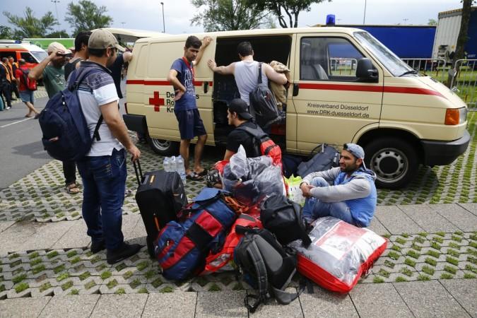 Dusseldorf refugee camp