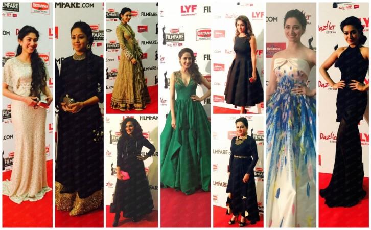 Actresses at Filmfare South Award 2016
