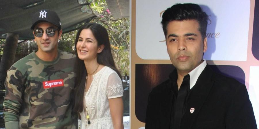 Ranbir Kapoor, Katrina Kaif and Karan Johar