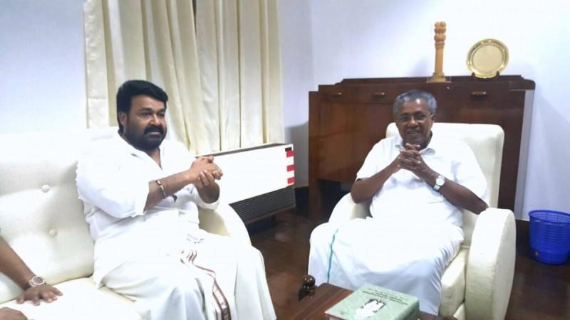 Mohanlal and Pinarayi Vijayan