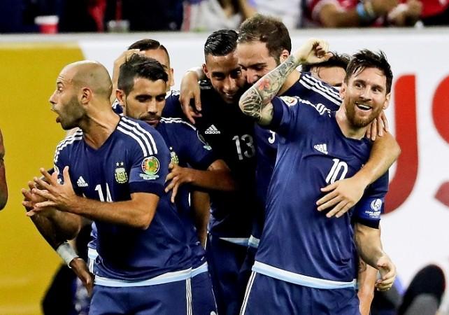 Lionel Messi Argentina Higuain Mascherano