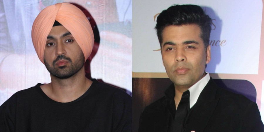 Diljit Dosanjh and Karan Johar