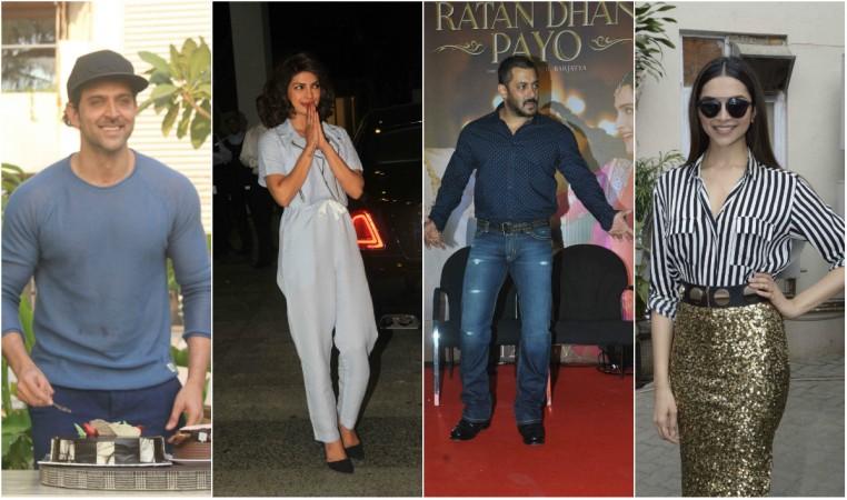 Hrithik Roshan, Priyanka Chopra, Salman Khan, Deepika Padukone
