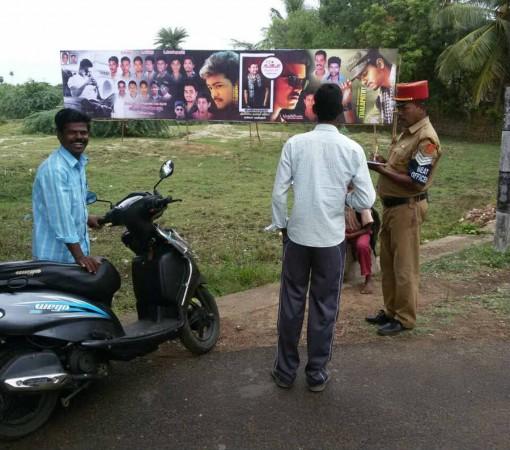 Ilayathalapathy Vijay's birthday hoarding attract fine