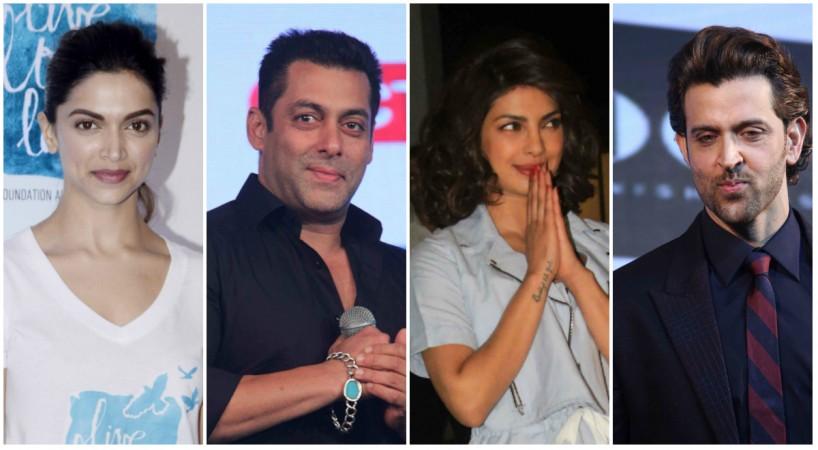 Deepika Padukone, Salman Khan, Priyanka Chopra, Hrithik Roshan