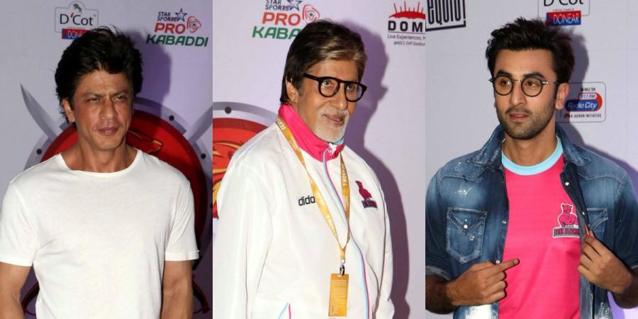 Shah Rukh Khan, Amitabh Bachchan, Ranbir Kapoor at Pro Kabaddi League