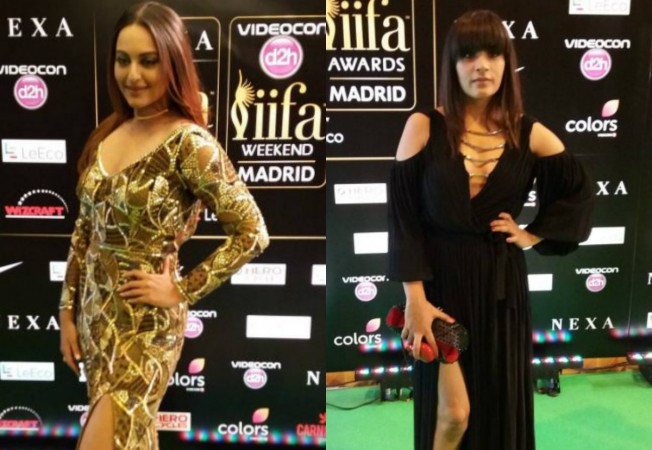 Sonakshi Sinha, Richa Chadha at IIFA Rocks 2016 green carpet