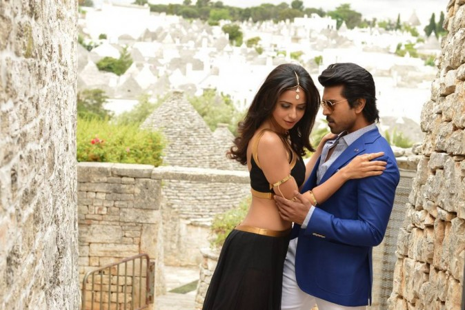 Ram Charan and Rakul Preet in Bruce Lee still