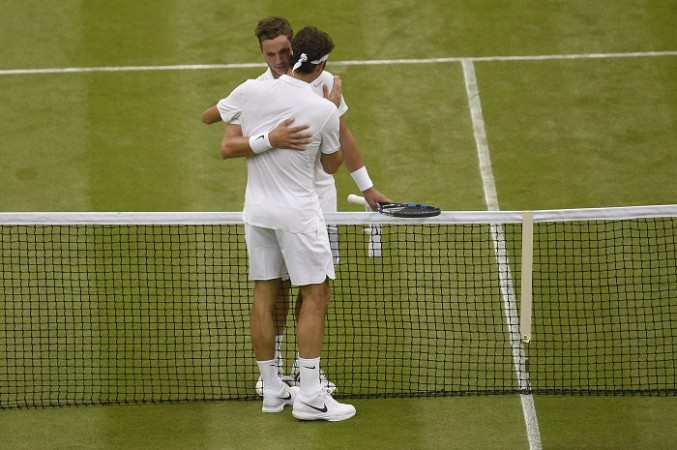 Marcus Willis Roger Federer Wimbledon