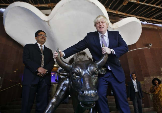 bse bombay stock exchange rally sensex conservative party britain brexit Boris Johnson eu referendum