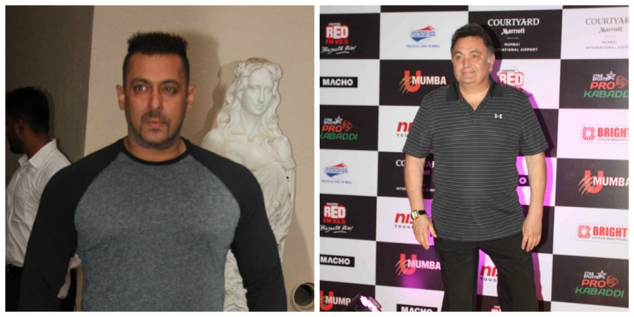 Rishi Kapoor and Salman Khan